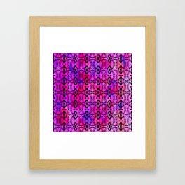 Purple Watercolor Haze, Filigree Pattern Framed Art Print
