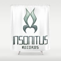records Shower Curtains featuring Insonitus Records by Splund