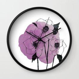 helleborus Wall Clock