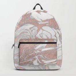 Rosegold marble Backpack