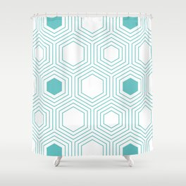HEXMINT Shower Curtain
