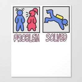 Hilarious Problem Solve Tshirt Design Scuba diving Canvas Print