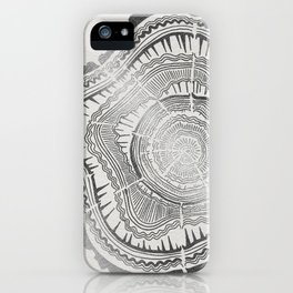 Growth Rings – 65 Years – Silver iPhone Case