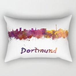 Dortmund skyline in watercolor Rectangular Pillow
