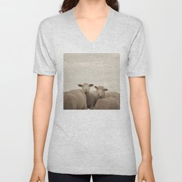 Smiling Sheep  Unisex V-Neck