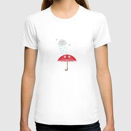Rain cloud and umbrella   T-shirt