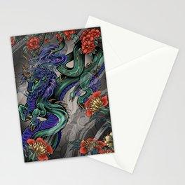 Kirin & Flowers Stationery Cards