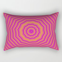 Psychedelic spider web Rectangular Pillow
