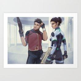 Ryan & Iwah Art Print