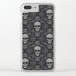 skull texture Clear iPhone Case