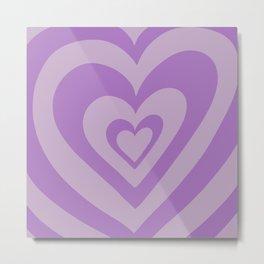 Love Power - Grey Purple Metal Print