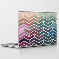 ikat Laptop & iPad Skins featuring Chevron iKat by Steven Womack