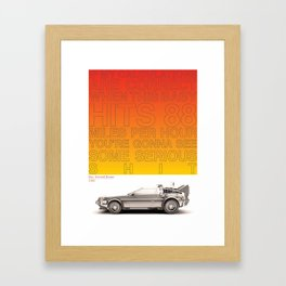 1985 - Doc. Emmett Brown Framed Art Print