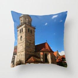 A Church In A Bavarian Village Throw Pillow