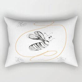 Crazy Bee drawing illustration for kds Rectangular Pillow