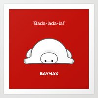 baymax Art Prints featuring baymax by Eric Si
