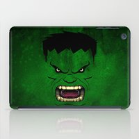 monster inc iPad Cases featuring Monster Green by Inara