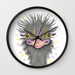 Hair Raising Day Wall Clock