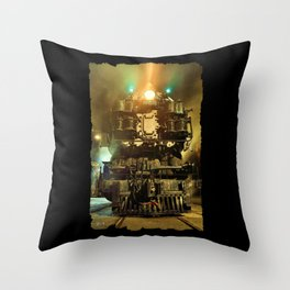 UP 9000. Union Pacific. Steam Train Locomotive. © J&S Montague. Throw Pillow