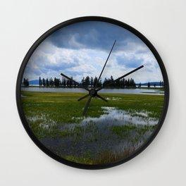 Yellowstone Lake At Pelican Creek Wall Clock