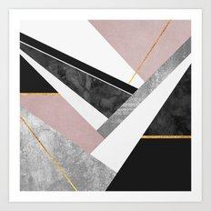 Lines & Layers 1 Art Print