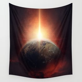 Earth Emerges Wall Tapestry