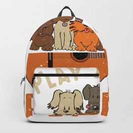 Play Guitar Pet Dogs Backpack