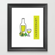 Chardonnay Wine Framed Art Print