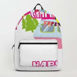 Happy Camper Road Trip Camping Vacation Funny Backpack