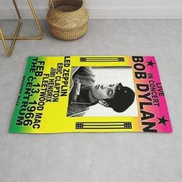 Vintage 1966 Centrum, Worcester, Massachusetts Bob Dylan Concert Billboard Gig Poster Rug