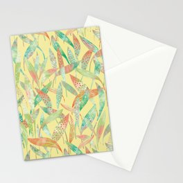 Hosta Leaves Yellow Stationery Cards