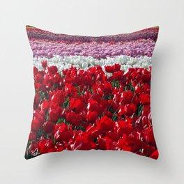 Parade of Tulips Throw Pillow