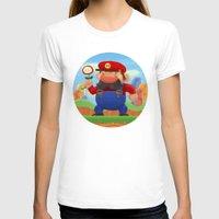 mario T-shirts featuring Mario by Gazulo Marquez
