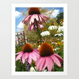 Flowers at Washington Square Park in NYC Art Print
