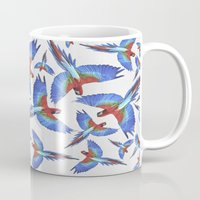 parrot Mugs featuring Parrot. by Eleaxart