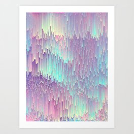 Iridescent Glitches Art Print
