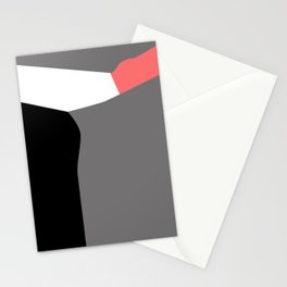 Grey and Pink - Abstract Art Print Stationery Cards