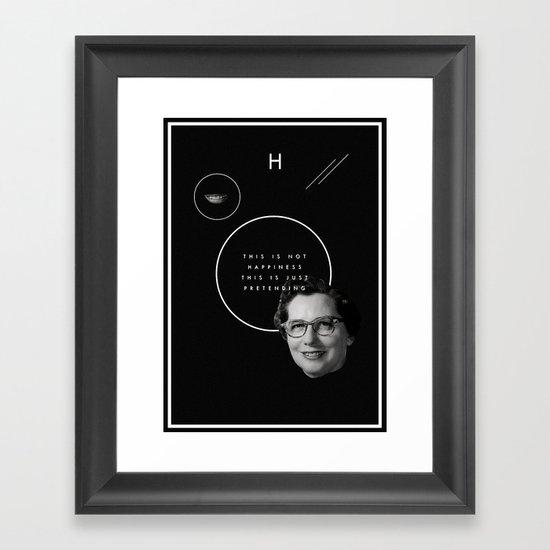 Fake smile sells everything. Framed Art Print