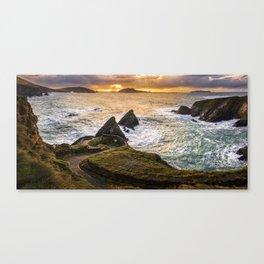 Sunset at Dunquin Pier Canvas Print