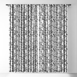 Bamboo Forest Pattern - White Black Grey Blackout Curtain