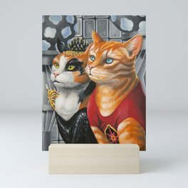 Cat Gordon and Dale Purrden Mini Art Print