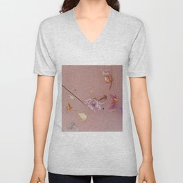 Harry Styles - pink flowers album Unisex V-Neck