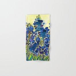 Texas Bluebonnets Watercolor Hand & Bath Towel
