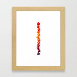 Plum Gradient Framed Art Print