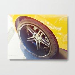 Super car Wheel Tire Metal Print