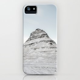 Mountain view at Mount Kirkjufell in Iceland iPhone Case