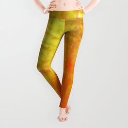 Aflood with gold and rose Leggings