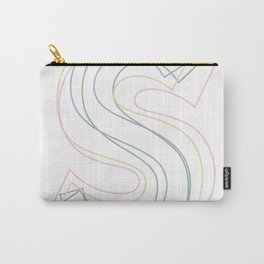 Intertwined Strength and Elegance of the Letter S Carry-All Pouch