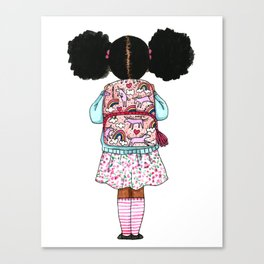 Bckpack and Puffs Canvas Print
