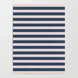 Blue over pink Poster